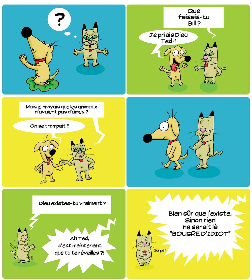 Strip bd parti 1: Dieu et les animaux