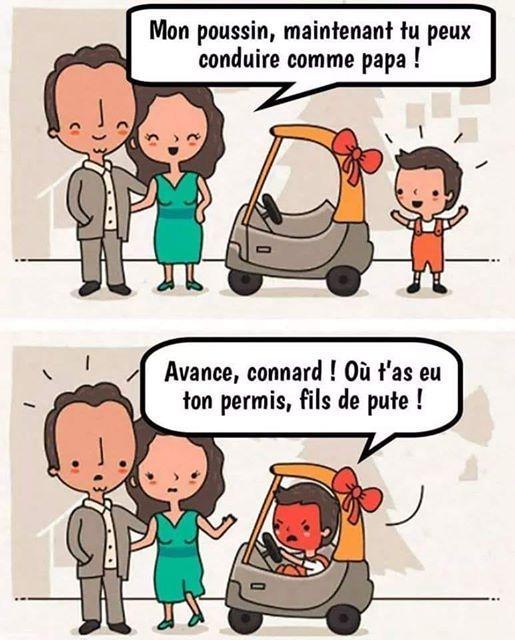 Conduire comme papa
