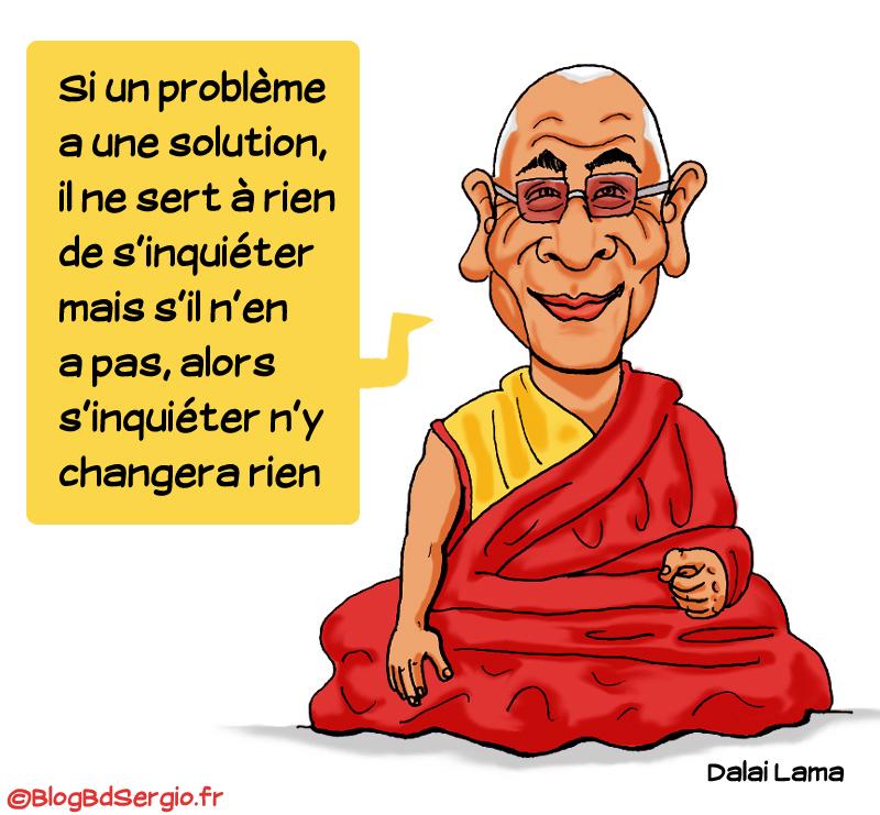 Caricature Dalai lama