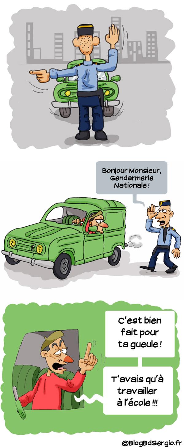 Strip bd: Blague Gendarme