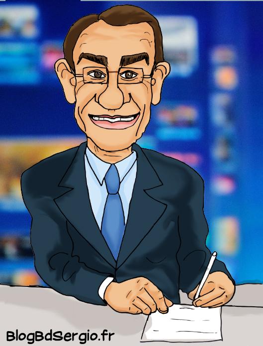 Caricature de Jean-Pierre Pernaut