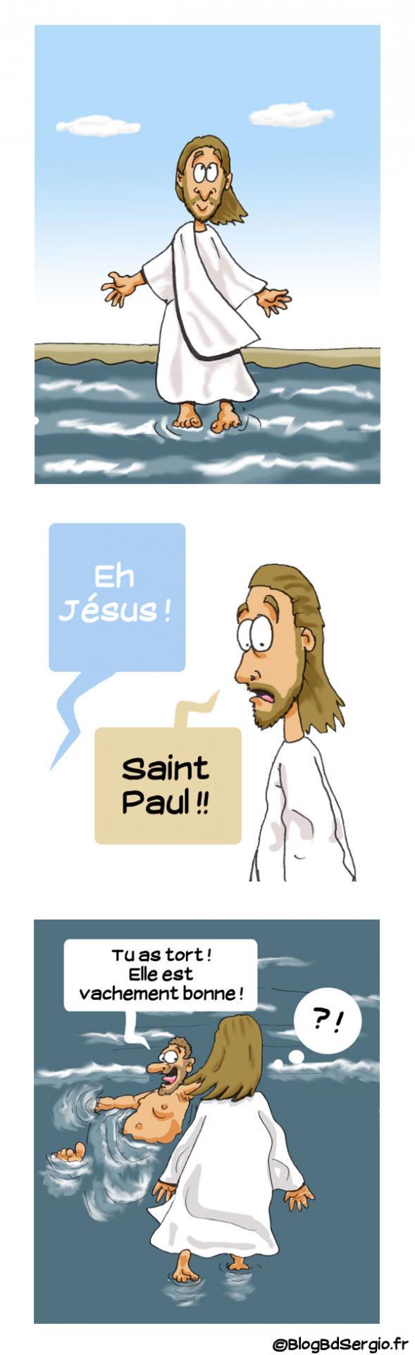 Strip bd: blague sur Jésus