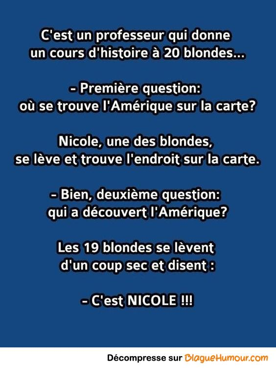 Nicole la blonde