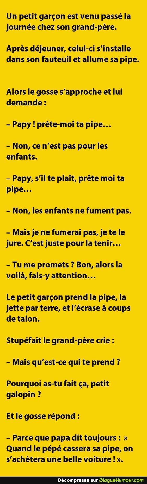 Papy et sa pipe