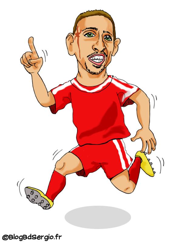 Caricature de Franck Ribery