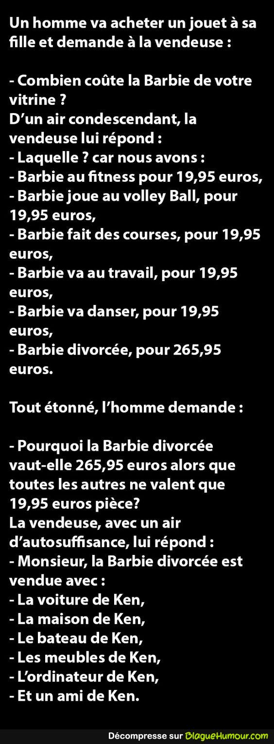 Vend Barbie divorcée